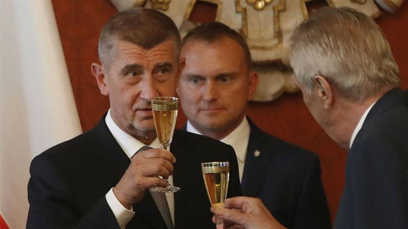 Andrej Babis said he will 'fight illegal migration and fight for our interests in Europe' [Petr David Josek/AP]