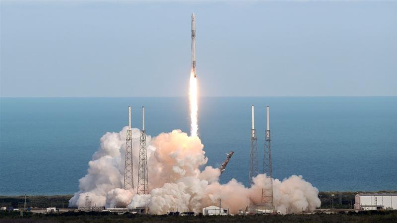 The RemoveDEBRIS was launched on April 2 on board a SpaceX Dragon rocket as part of an ISS resupply mission [John Raoux/AP]