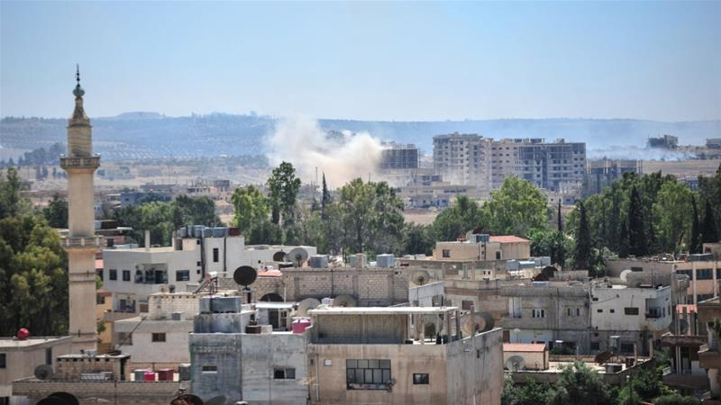 Shelling has resumed for the ninth consecutive day in the rebel-held towns of Deraa [SANA/Handout via Reuters]