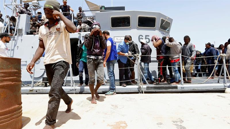 The Libyan coastguard picked up 14 survivors from the boat just east of the capital, Tripoli, an official said on Friday. [Ismail Zitouny/Reuters]