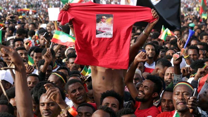 Ethiopians Attend A Rally In Support Of The New Prime Minister Abiy Ahmed Addis Ababa