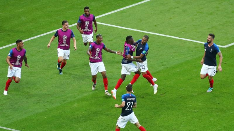 Mbappe's double helps France knock out Argentina