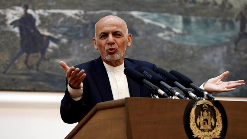 In a news conference in Kabul, Ghani said the ceasefire helped in breaking the deadlock towards talks [Reuters]