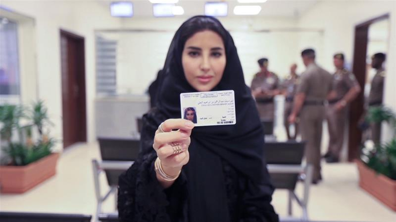 First female driving license being issued in Saudi Arabia