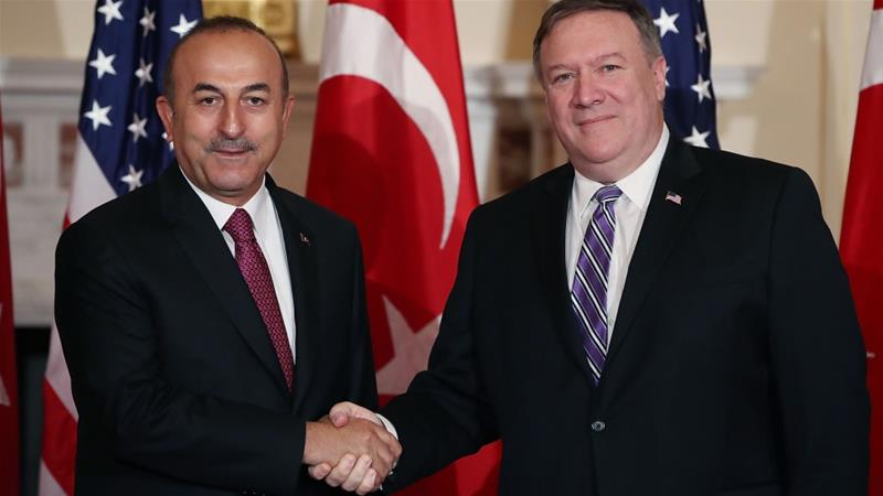 The deal  was announced after a meeting between Turkish Foreign Minister Mevlut Cavusoglu and US Secretary of State Mike Pompeo [AFP]