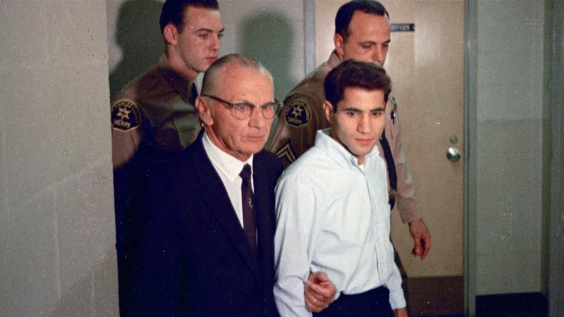 Jerusalem-born Sirhan Sirhan shot Robert F Kennedy on June 5, 1968, at the Ambassador Hotel in Los Angeles [File photo: AP Photo]