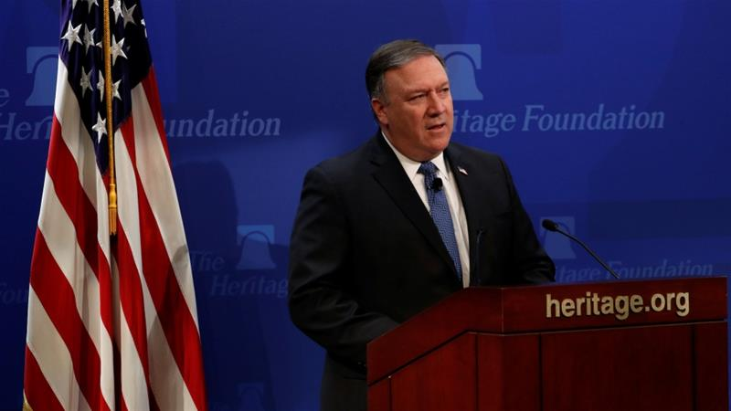 On May 21, US Secretary of State Pompeo outlined 12 demands to be included in a new nuclear treaty with Iran, and threatened 'the strongest sanctions in history' if Tehran does not comply [Reuters]