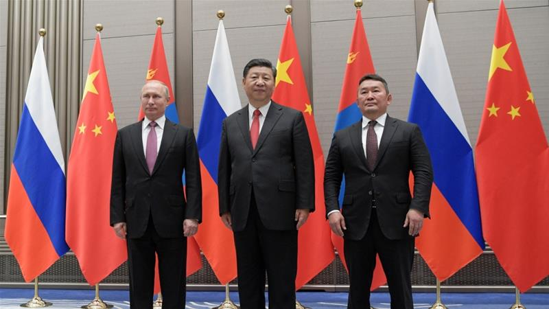 The Shanghai Cooperation Organisation is an eight-member grouping led by China and Russia [Sputnik/Alexei Druzhinin/Kremlin via Reuters]