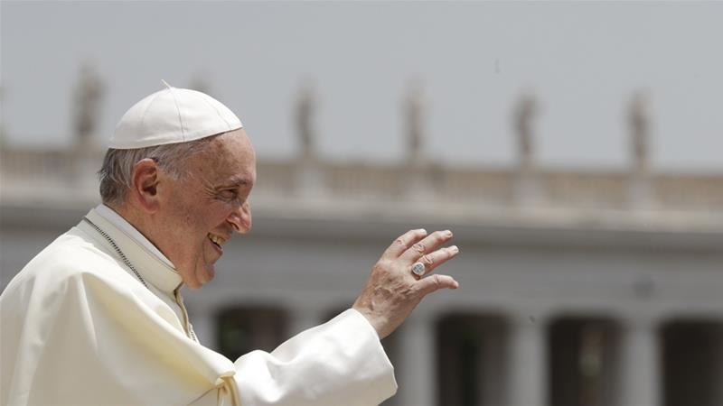 Pope Francis tells big oil executives clean energy is an 'epochal' challenge