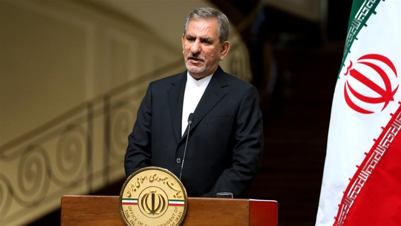 Jahangiri : 'Anyone trying to take away Iran's oil market [share] would be committing great treachery against Iran' [Ebrahim Noroozi/Associated Press]