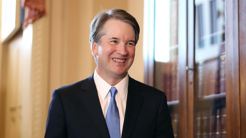 Federal appeals Judge Brett Kavanaugh is a longtime judge and former clerk of retiring Justice Kennedy [AFP]