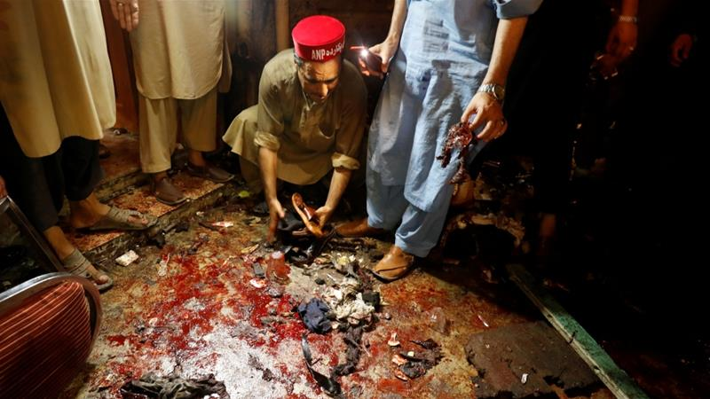 The bomber targeted a meeting of the Awami National Party in Peshawar [Fayaz Aziz/Reuters]