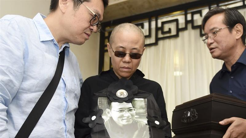 Liu Xia, wife of late Nobel Peace Prize victor , leaves China