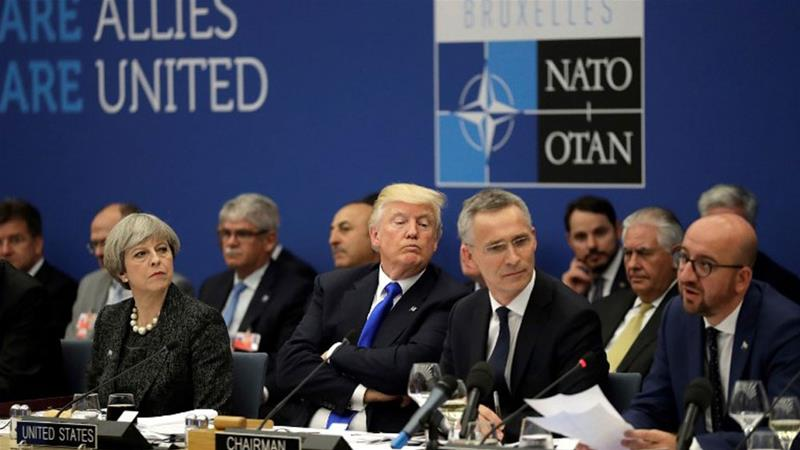 One unbelievable  photo with Trump and North Atlantic Treaty Organisation  leaders says it all
