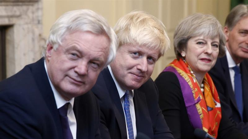 Brexit minister David Davis and Foreign Secretary Boris Johnson stepped down from their roles earlier this week amid disagreements with PM Theresa May over the country's Brexit strategy [Reuters]