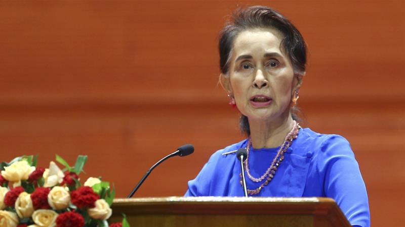 Aung San Suu Kyi has missed several opportunities to speak publicly about the Rohingya issue [AP]