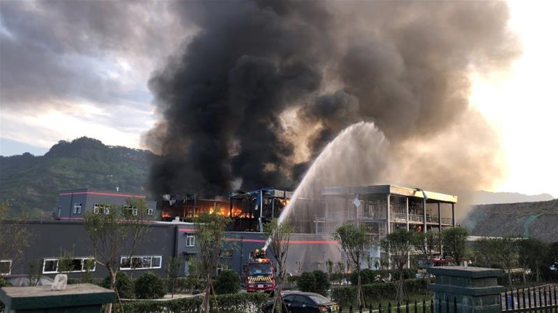 China chemical plant blast kills 19, injures 12