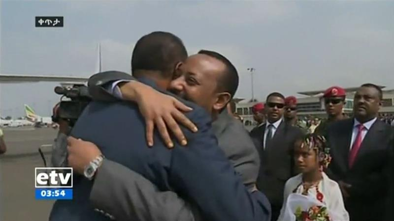 Eritrea president arrives in Ethiopia amid marching bands and red carpets