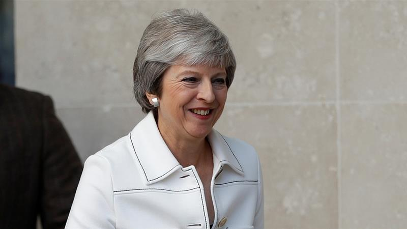 UK PM May says Trump said to sue EU