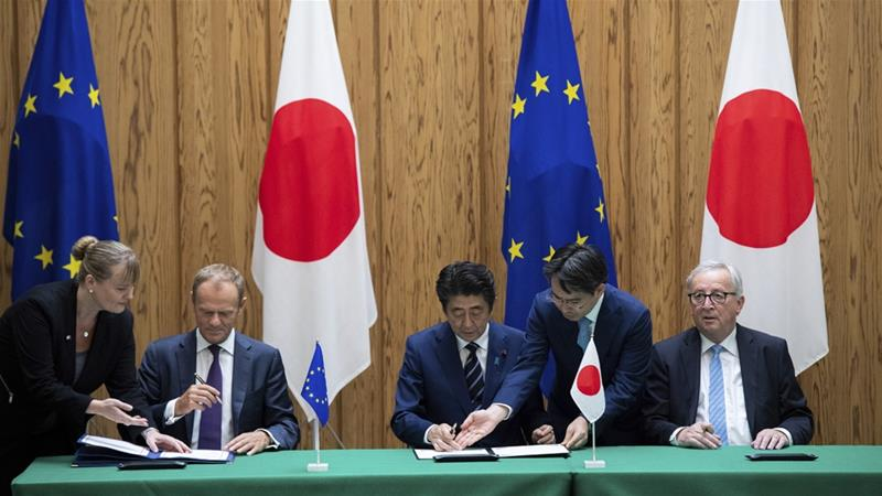 EU, Japan sign major trade deal in message against protectionism