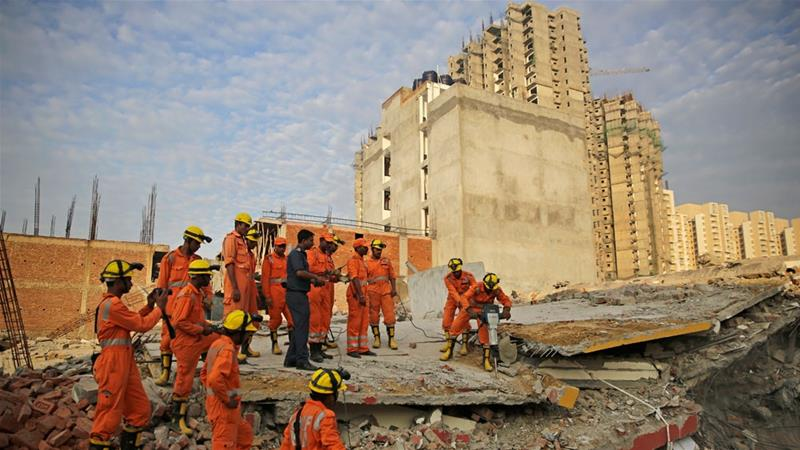India: Two buildings collapse in Noida, several feared trapped