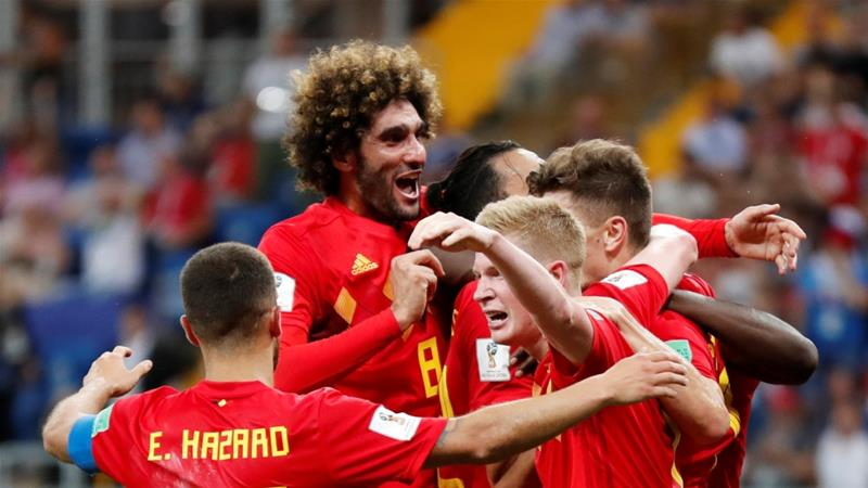 Belgium will take on Brazil in the quarter-finals [Toru Hanai/Reuters]