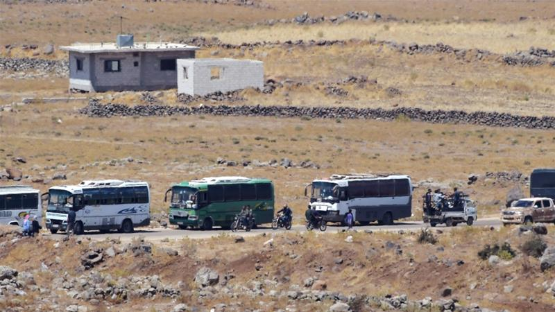Syria's war: Evacuation of rebels from Quneitra begins