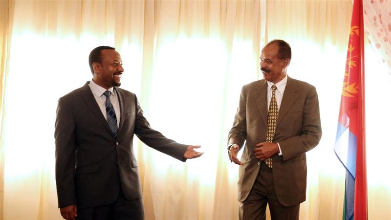 Eritrea's Isaias visited Ethiopia to re-open Eritrea's embassy in Addis Ababa last week [Tiksa Negeri/Reuters]
