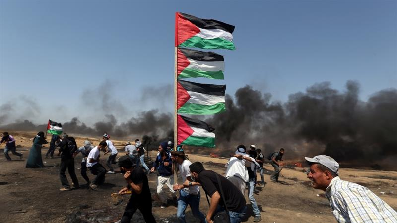 Israeli soldier killed along with four Palestinians in violent border demonstrations