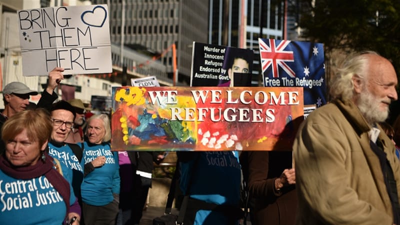 Thousands rally against Australia's refugee detention policy