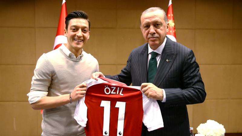 Ozil, who quit the German team, says he was targeted because of his Turkish roots and his photos with Erdogan [Twitter]