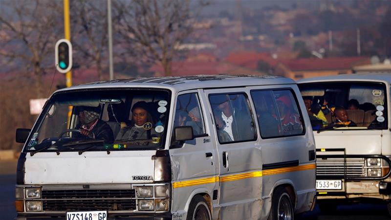 Rivalry between groups of minibus taxis over dominance on profitable routes sometimes spills over into deadly violence in South Africa  [Siphiwe Sibeko/Reuters]