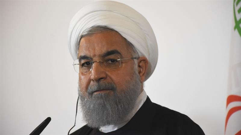 Iranian President Hassan Rouhani threatens to close Strait of Hormuz