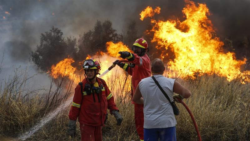 At Least 74 Killed in Greek Wildfires