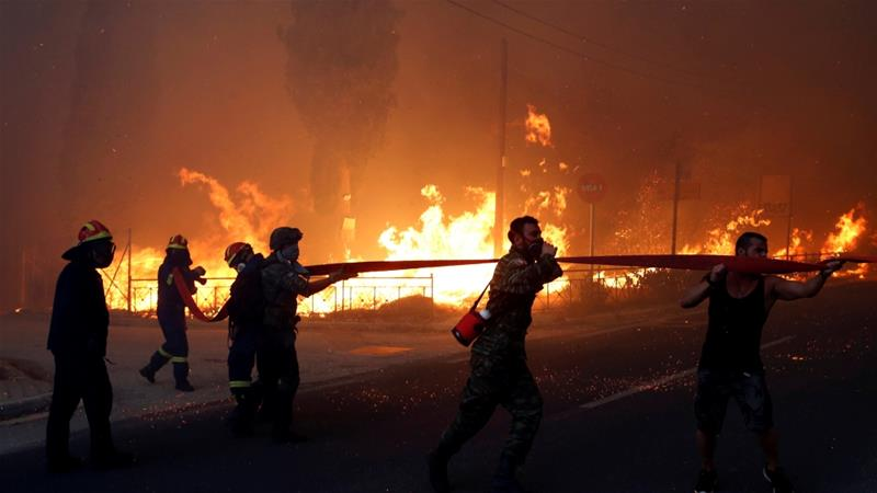 The opposition has accused the Greek government of failing to apologise for the wildfires which killed scores [Reuters]