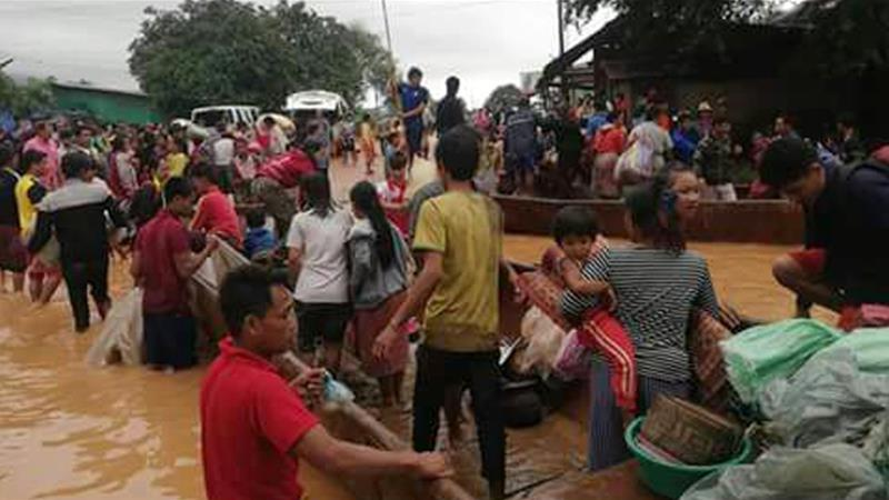 At least 100 missing after Laos dam collapse