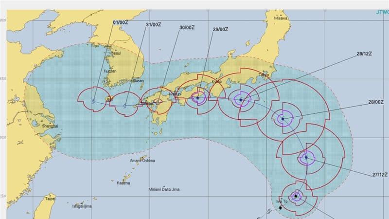 Typhoon Jongdari expected to batter Japan