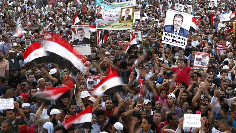 Hundreds of protesters, including leaders of Morsi's Muslim Brotherhood, have been convicted at mass trials [Reuters]