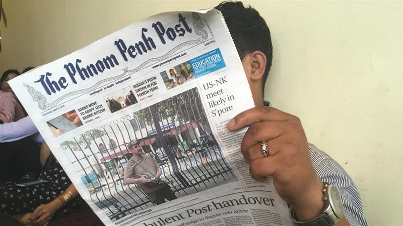 The Phnom Penh Post was among those taken offline for 48 hours by the government [Erin Handley/Al Jazeera]