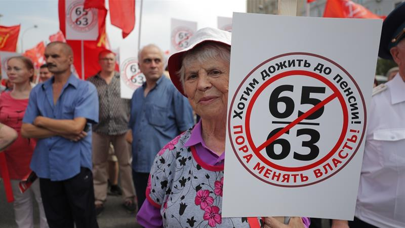 Protesters chant anti-Putin slogans at Moscow rally