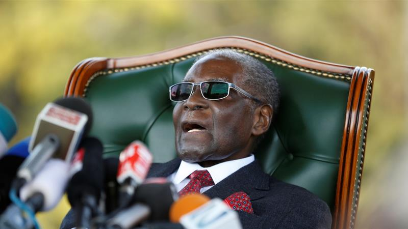 Mugabe was pushed out of office by the country's military in November [Siphiwe Sibeko/Reuters]