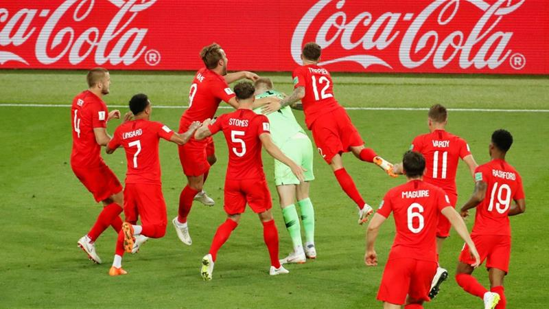 England beat Colombia to reach World Cup quarter-final
