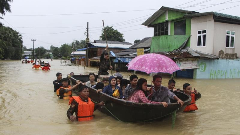 Myanmar: 10 killed, thousands displaced in monsoon floods