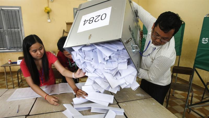 Spoilt Cambodian ballot papers seen as protest over 'sham' election