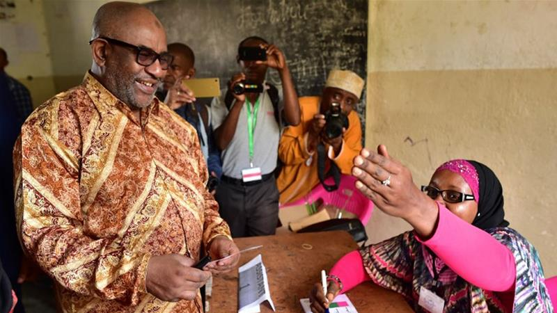 Azali Assoumani is standing behind a July referendum which may allow him to rule until 2029 [File: AFP]