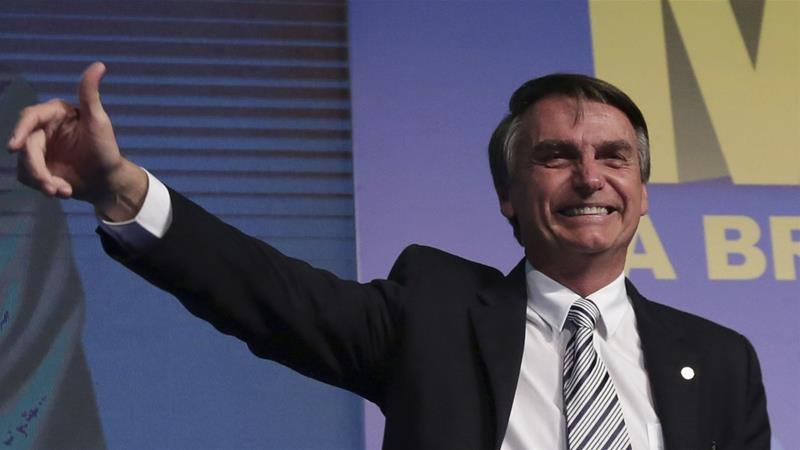 Jair Bolsonaro said Brazil 'owes no debt' to its black citizens [Eraldo Peres/The Associated Press]