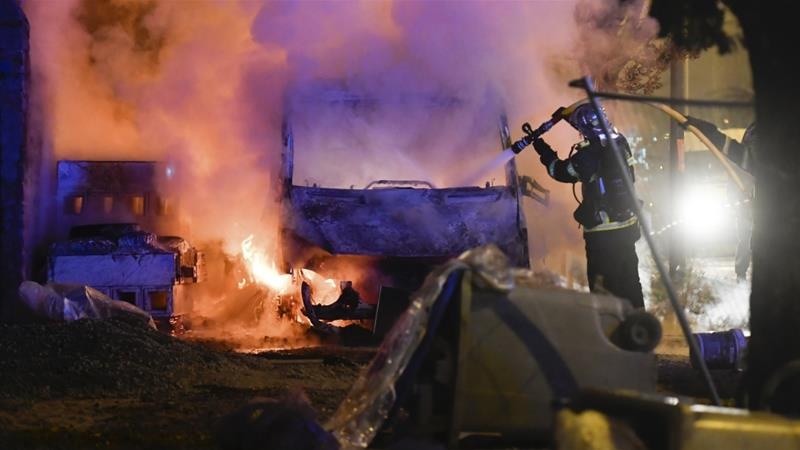 The riots ended in the early hours of Wednesday after police sent in reinforcements [AP]