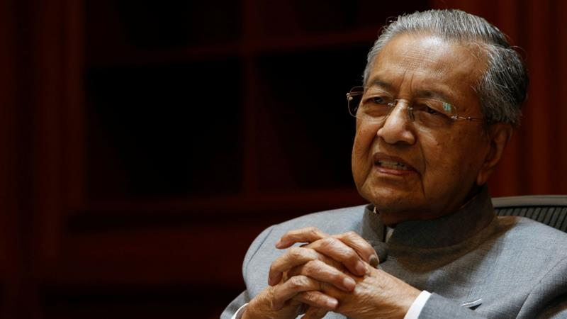 Mahathir was elected in May, when his alliance of four parties, trounced the ruling Barisan Nasional (BN) coalition  [Lai Seng Sin/Reuters]