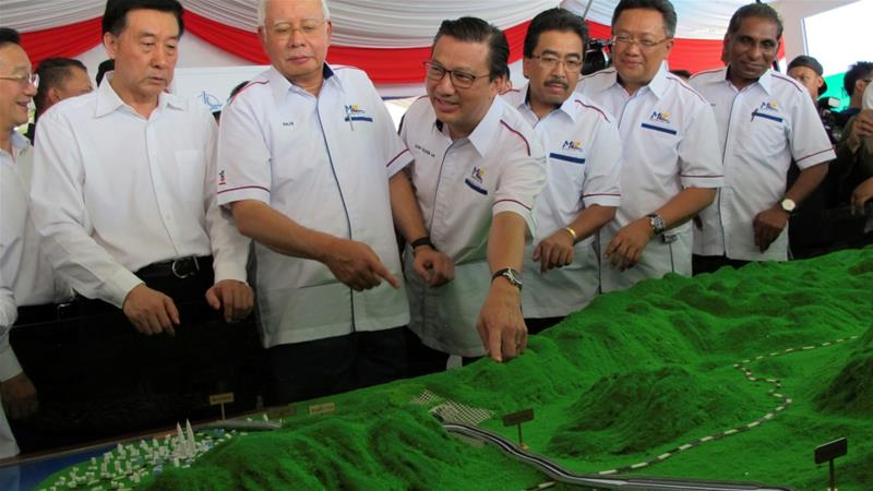 Malaysia''s East Coast Rail Link project was launched by former PM Najib Razak in September [Reuters]
