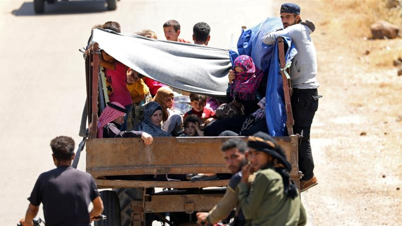 At least a quarter of a million people have been displaced in southern Syria since June 19 [File: Alaa Al-Faqir/Reuters]